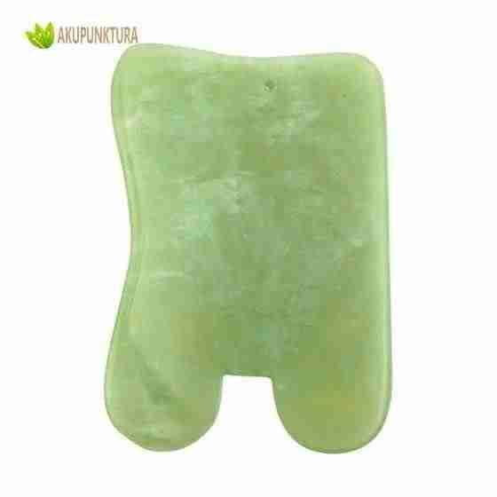 gua sha zielony kwarc